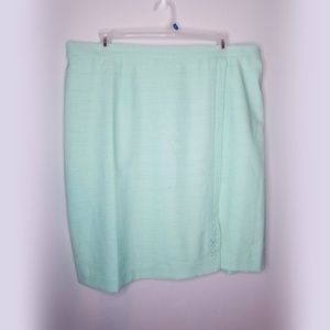 Alfred Dunner plus size 22 mint aqua pencil skirt